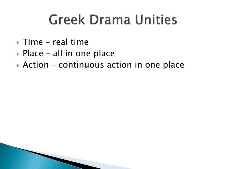 Greek Drama Unities