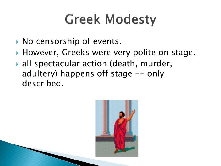 Greek Modesty