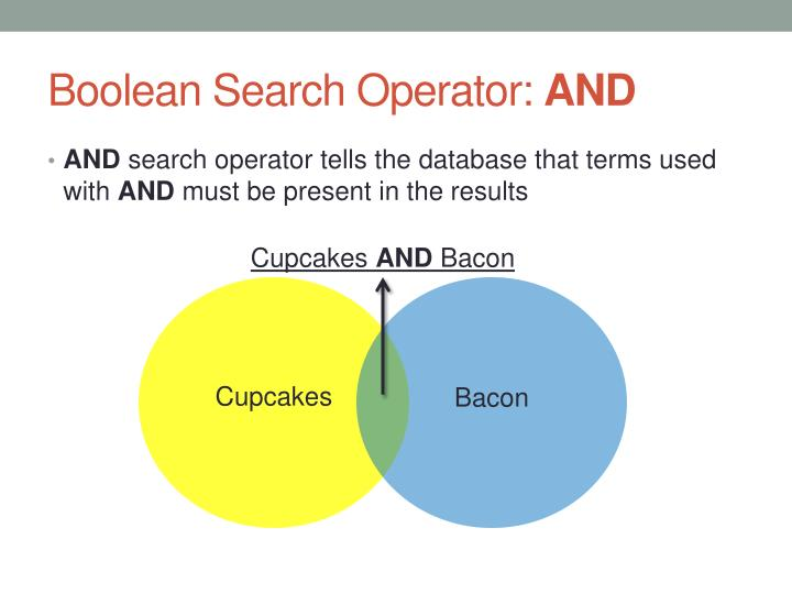 Boolean search operator and
