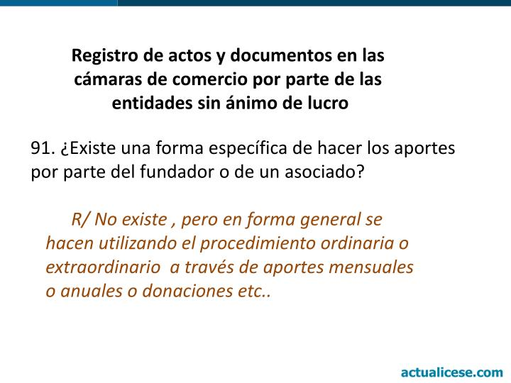 Registro de actos y documentos en las