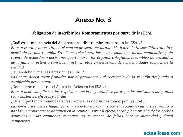 Anexo No. 3