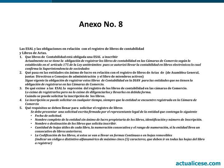 Anexo No. 8