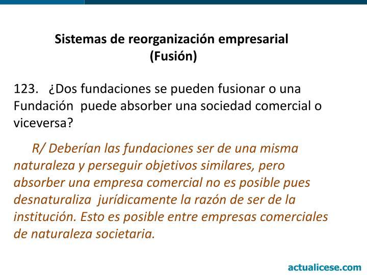 Sistemas de reorganización empresarial