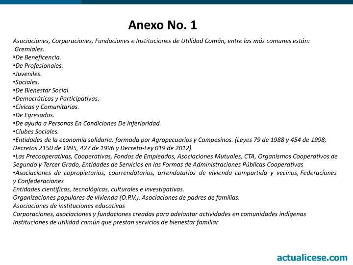 Anexo No. 1