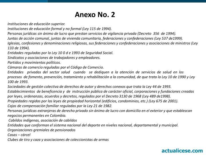 Anexo No. 2
