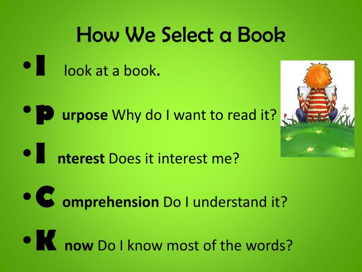 How We Select a Book