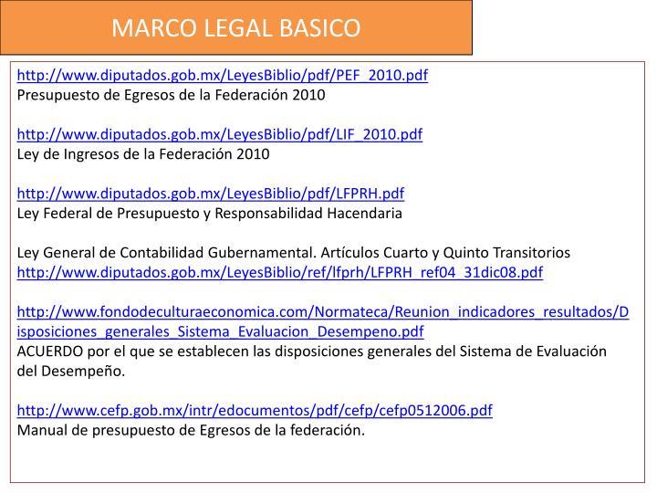 MARCO LEGAL BASICO