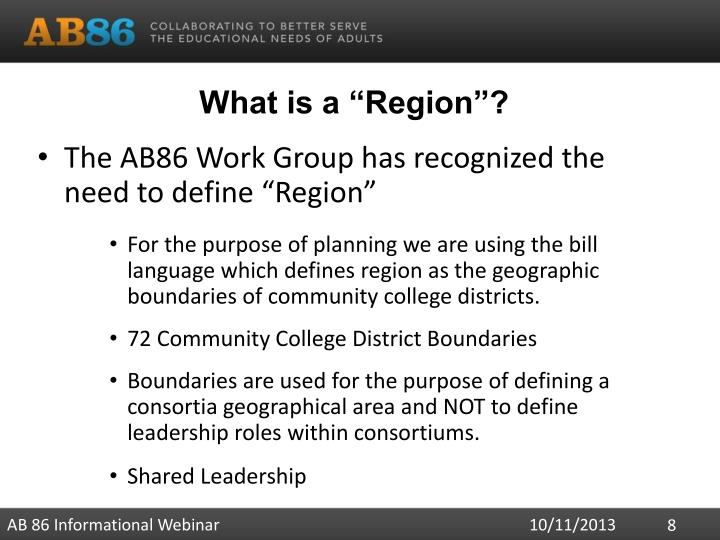 "What is a ""Region""?"
