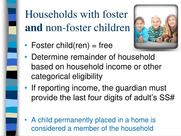 Households with foster