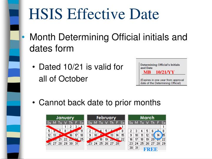 HSIS Effective Date