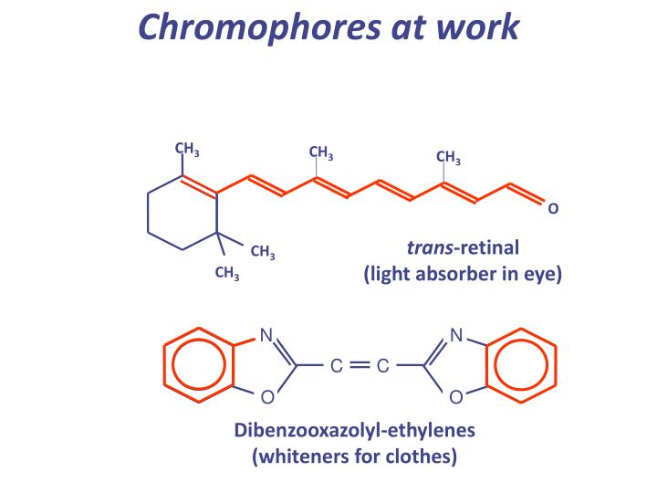 Chromophores at work