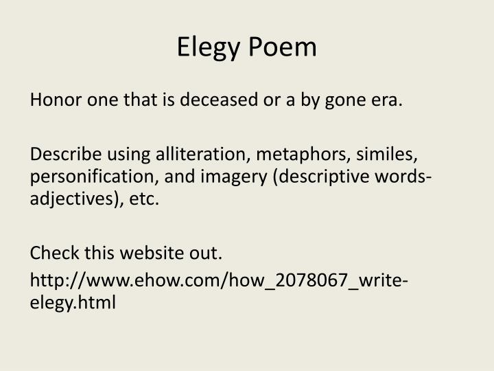 Elegy Poem
