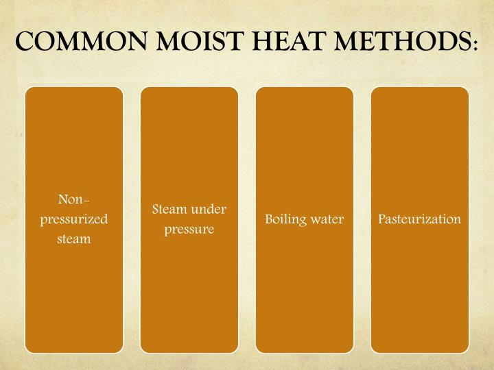 COMMON MOIST HEAT METHODS