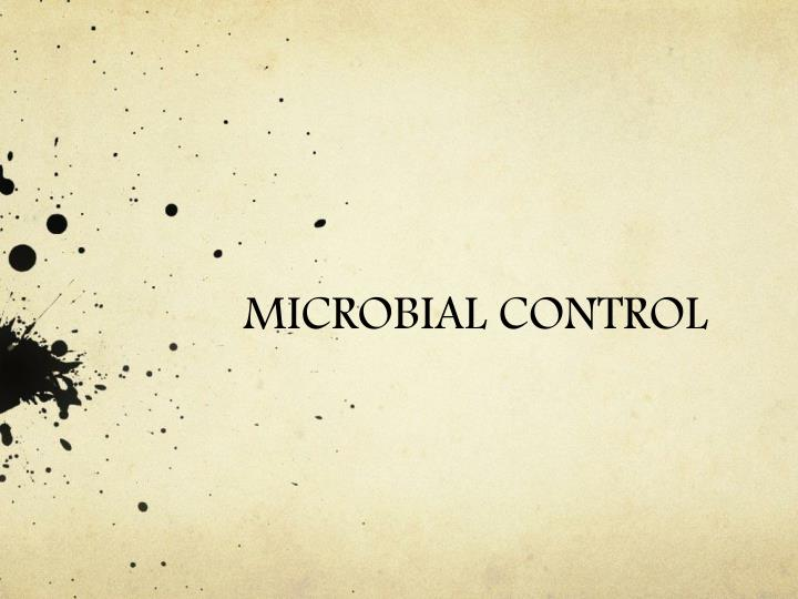 Microbial control
