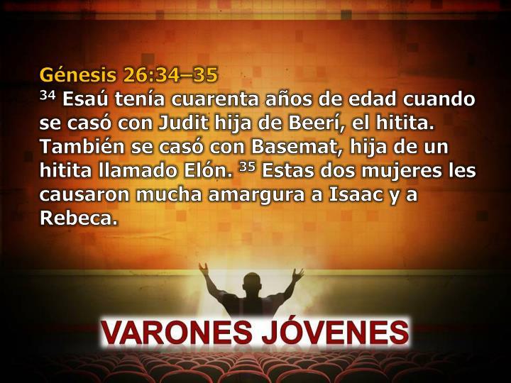 Génesis 26:34–35