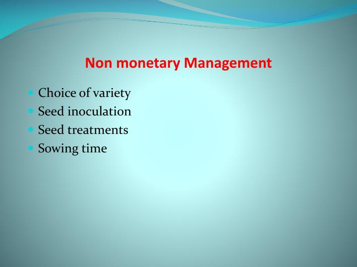 Non monetary Management