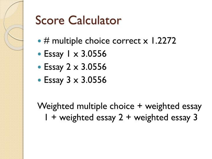 Score Calculator