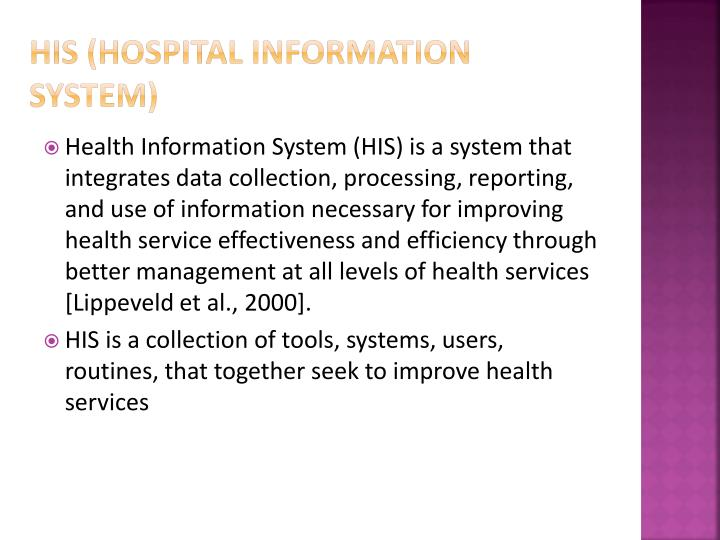 HIS (Hospital information system)