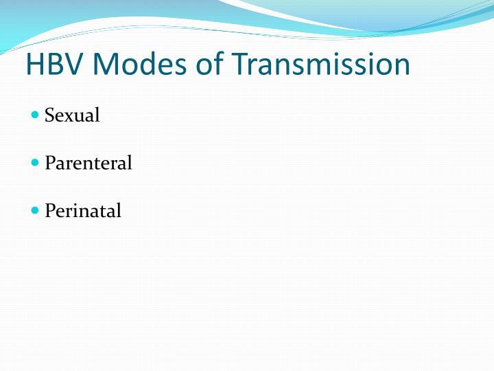 HBV Modes of