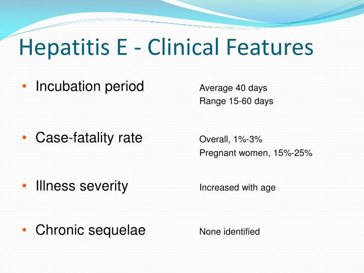 Hepatitis E - Clinical