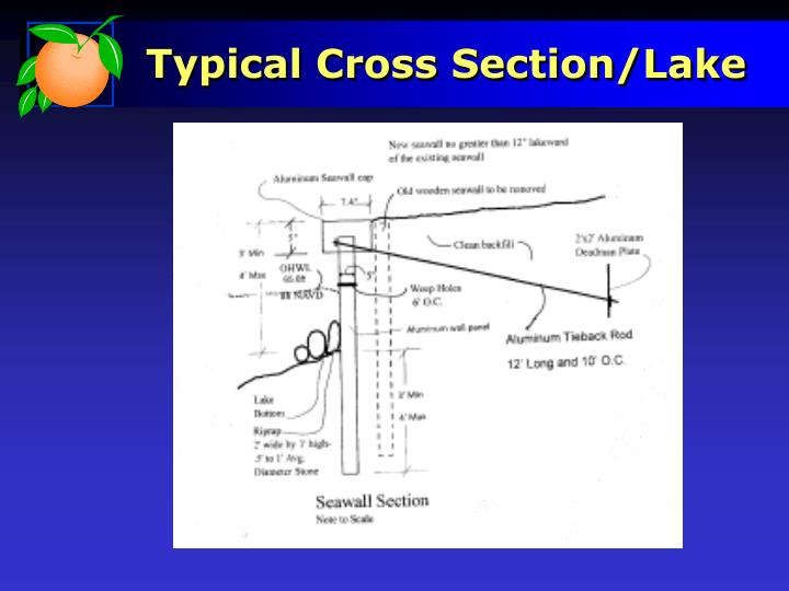 Typical Cross Section/Lake