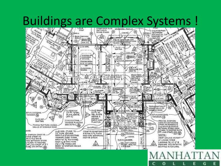 Buildings are complex systems