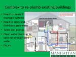 complex to re plumb existing buildings