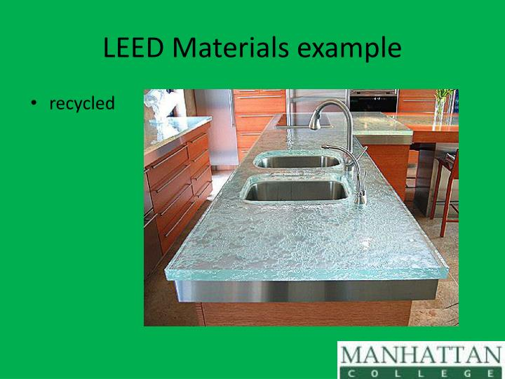 LEED Materials example