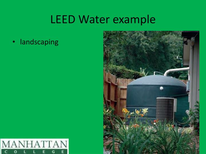 LEED Water example