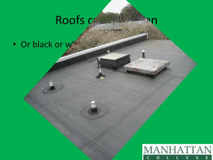 Roofs can be Green