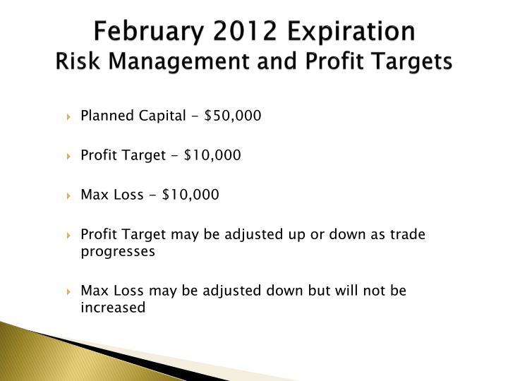February 2012 Expiration