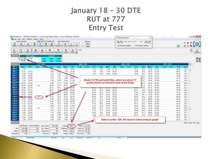 January 18 – 30 DTE