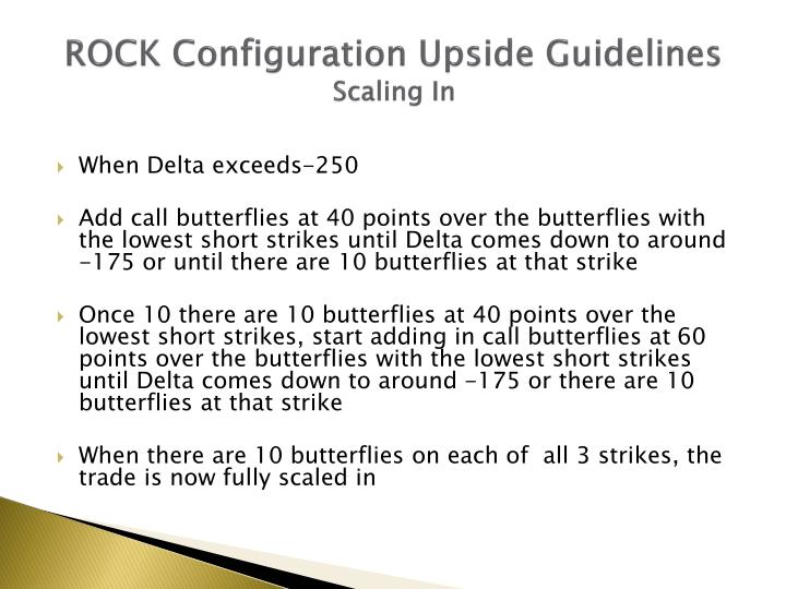 ROCK Configuration Upside Guidelines
