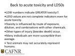 back to acute toxicity and ld50s