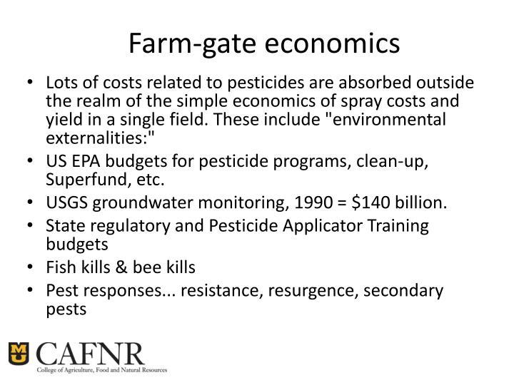 Farm-gate economics