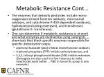 metabolic resistance cont