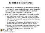 metabolic resistance