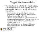 target site insensitivity