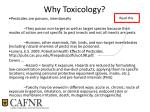 why toxicology