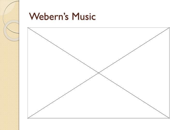 Webern's Music