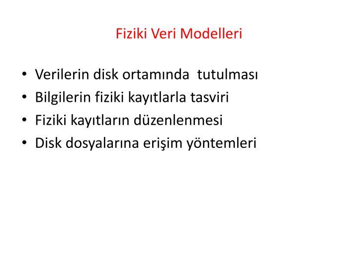 Fiziki Veri Modelleri