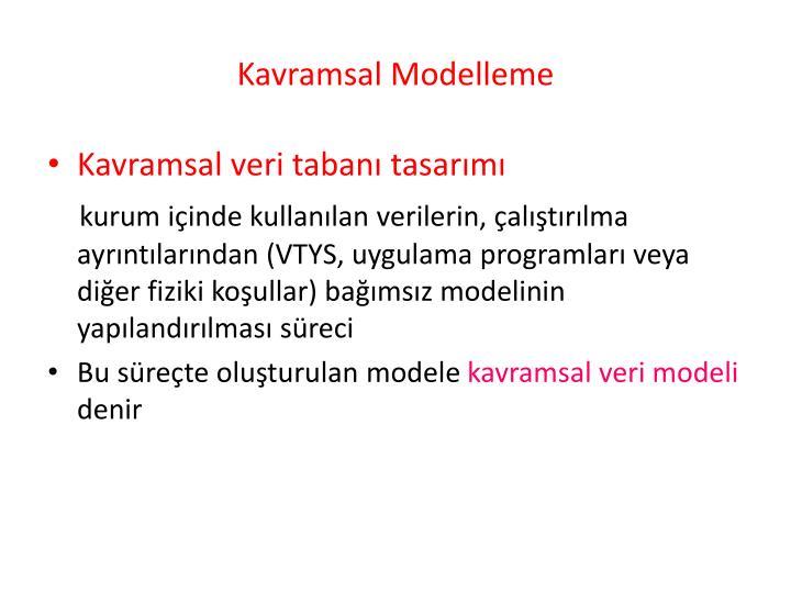 Kavramsal Modelleme
