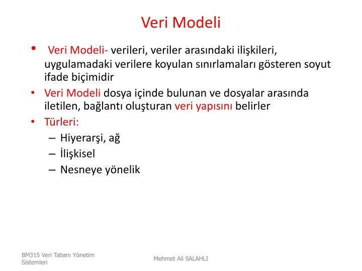 Veri Modeli