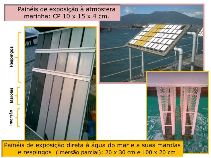 Painéis de exposição à atmosfera marinha: CP