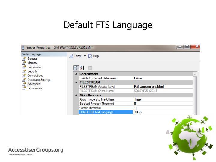 Default FTS Language