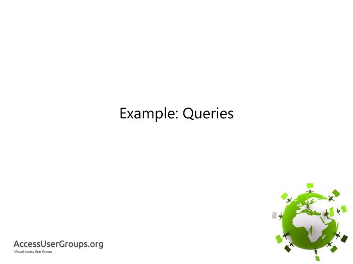 Example: Queries
