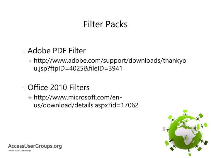 Filter Packs
