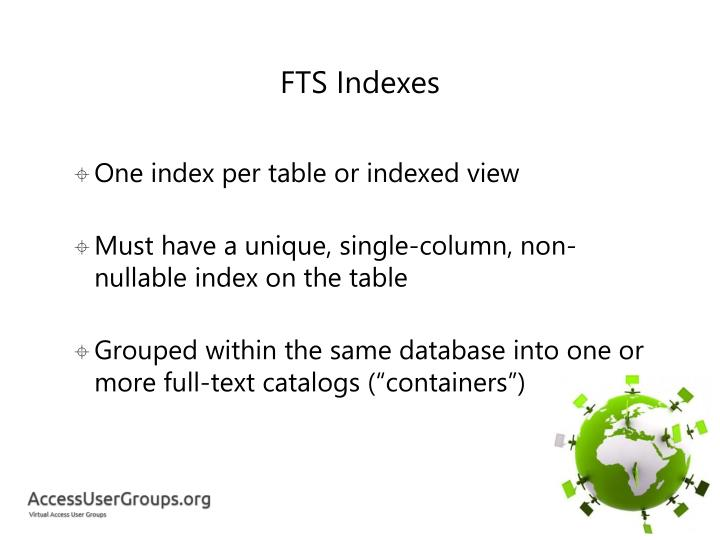 FTS Indexes