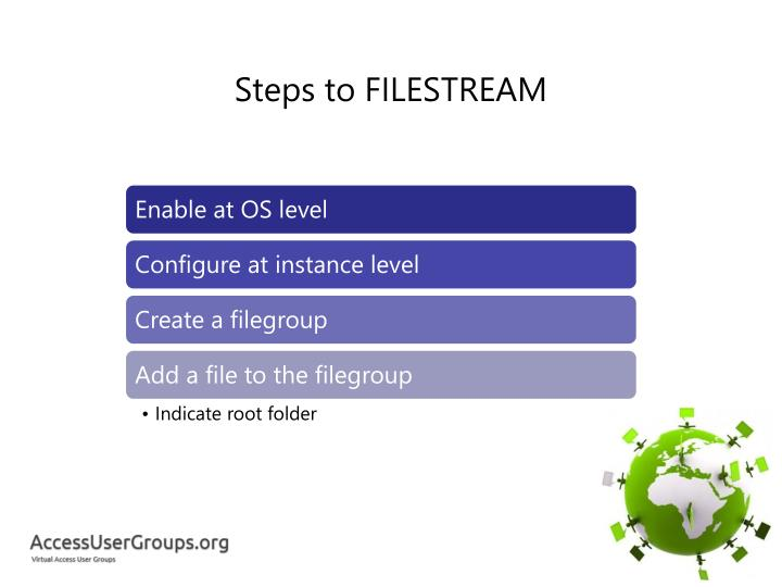 Steps to FILESTREAM