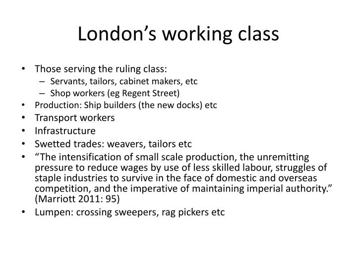 London's working class